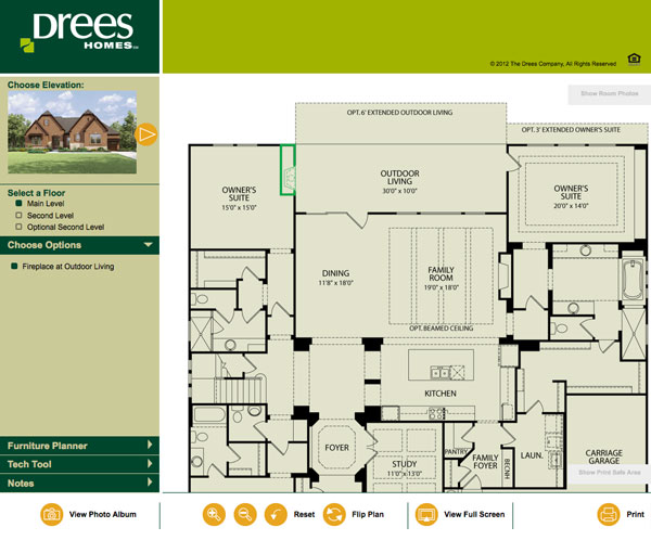Drees homes austin floor plans home design and style for Interactive home plans