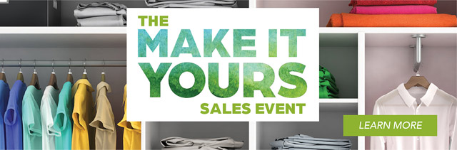 Make It Yours Sales Event