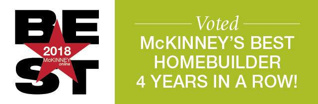 McKinney's Best New Home Builder